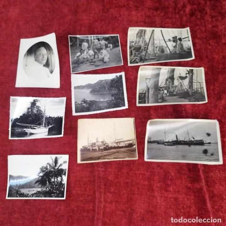 Fotografía antigua: 9 FOTOGRAFÍAS. BARCOS Y MILITARES. PROBABLEMENTE TOMADAS EN INDONESIA. CIRCA 1910 - Foto 2 - 221661718