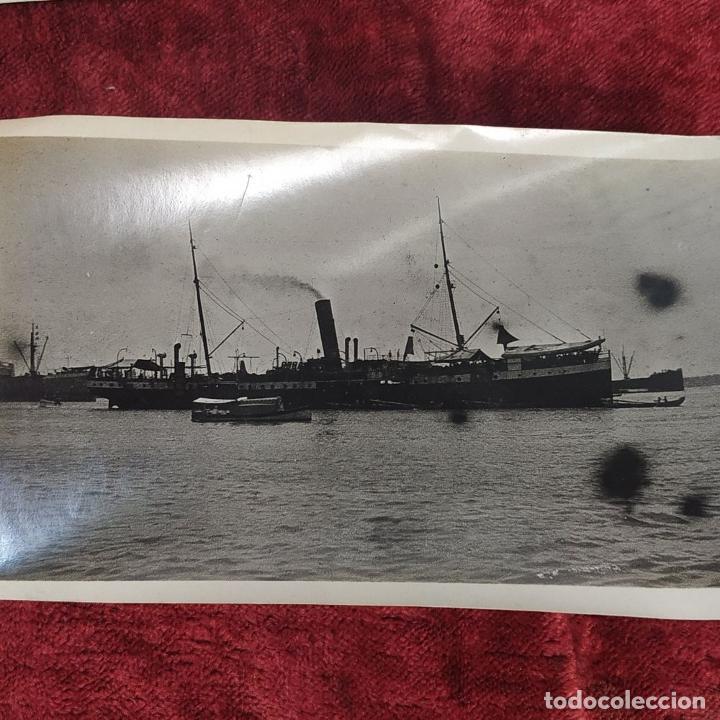 Fotografía antigua: 9 FOTOGRAFÍAS. BARCOS Y MILITARES. PROBABLEMENTE TOMADAS EN INDONESIA. CIRCA 1910 - Foto 7 - 221661718