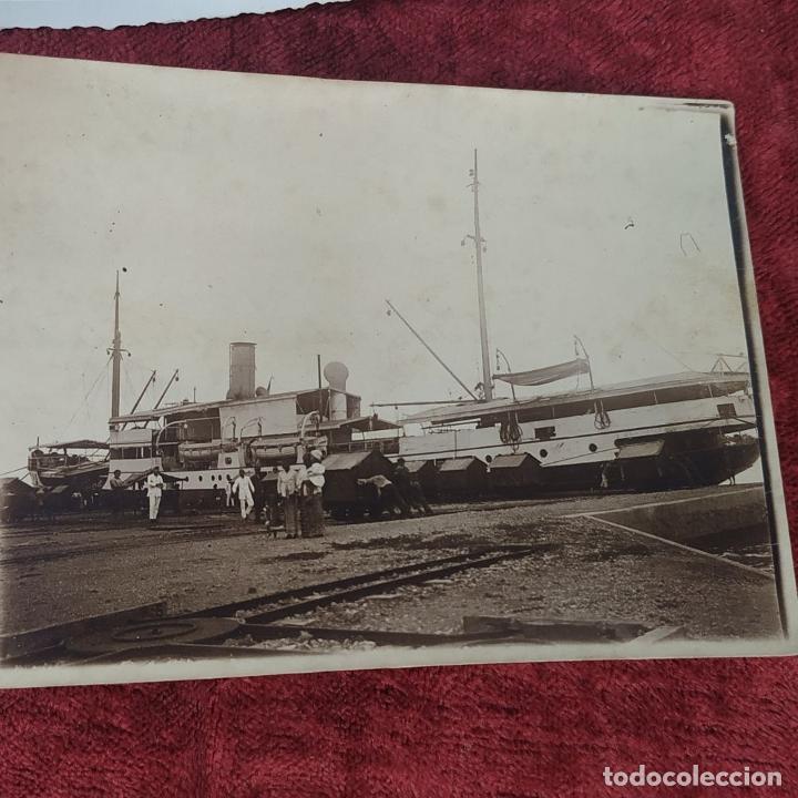 Fotografía antigua: 9 FOTOGRAFÍAS. BARCOS Y MILITARES. PROBABLEMENTE TOMADAS EN INDONESIA. CIRCA 1910 - Foto 9 - 221661718