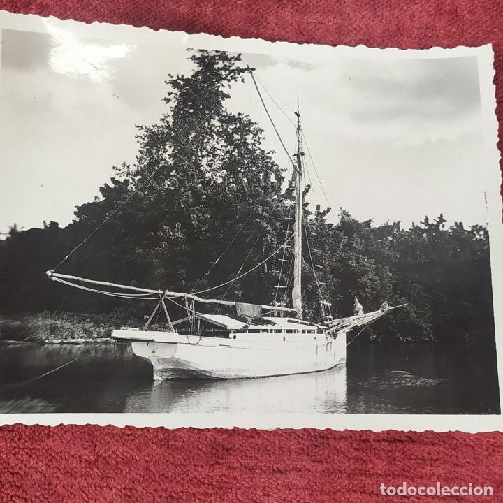 Fotografía antigua: 9 FOTOGRAFÍAS. BARCOS Y MILITARES. PROBABLEMENTE TOMADAS EN INDONESIA. CIRCA 1910 - Foto 10 - 221661718