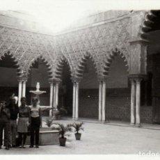 Fotografía antigua: TRES FOTOGRAFÍAS. REAL ALCÁZAR DE SEVILLA. 1970.. Lote 221687841