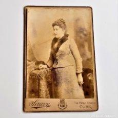 Fotografía antigua: ANTIGUA FOTO DE ESTUDIO PARIS CORK 1887-1892 - 11 X 17.CM APROX. Lote 236643700