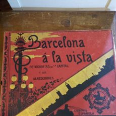 Fotografía antigua: BARCELONA Á LA VISTA, FOTOGRAFIAS DE LA CAPITAL Y SUS ALREDEDORES, PYMY 61. Lote 221874596