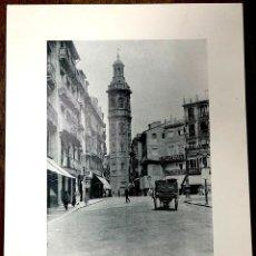 Fotografía antigua: FOTOTIPIA VALENCIA. PLAZA Y TORRE DE STA. CATALINA. Nº 311. 1892. HAUSER Y MENET. Lote 221918900