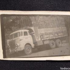 Fotografía antigua: FOTO CAMION CERVECERA DEL NORTE 7 DE ANCHO 4 DE LARGO LEER DESCRIPCION. Lote 221923140
