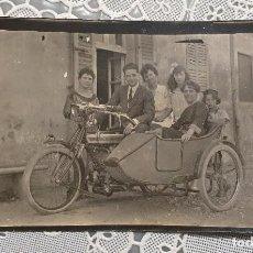 Fotografía antigua: MOTOCICLETA STUCCHI FOTOGRAFIA ANTIGUA 11 X 6,50 EN BUEN ESTADO. Lote 222084308