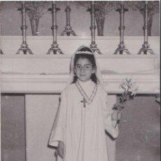 Fotografía antigua: ANTIGUA FOTOGRAFIA RECUERDO PRIMERA COMUNION - RIBALTA - MONISTROL DE MONTSERRAT. Lote 222486775