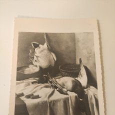 Fotografía antigua: FOTOGRAFIA ORIGINAL DE UNA OBRA DEL PINTOR DE GUIJUELO ANDRES ABRAIDO DEL REY, FIRAMDA Y DEDICADA 19. Lote 222488048