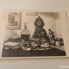 Fotografía antigua: FOTOGRAFIA ORIGINAL DE UNA OBRA DEL PINTOR DE GUIJUELO ANDRES ABRAIDO DEL REY, FIRAMDA Y DEDICADA 19. Lote 222488127