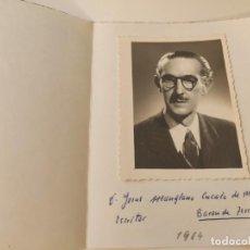 Fotografía antigua: FOTOGRAFIA RETRATO ORIGINAL JESUS MANGLANO CUCALO DE MONTULL, ESCRITOR Y CONDE DE TERRATEIG, 1949. Lote 222488200