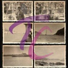 Fotografia antica: LOTE 6 ANTIGUAS FOTOGRAFIAS VIAJE A PALMA DE MALLORCA 1944 B/N 10X7CM. Lote 222726118