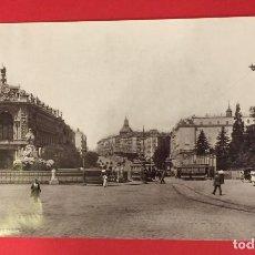 Fotografía antigua: FOTOGRAFIA DE MADRID CIBELES Y CALLE DE ALCALA HAUSER Y MENET COMISARIA REGIA PINTORESCA. Lote 222808576