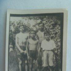 Fotografía antigua: MINUTERO DE FOTOGRAFO AMBULANTE DE NIÑOS EN BAÑADOR. Lote 222840970