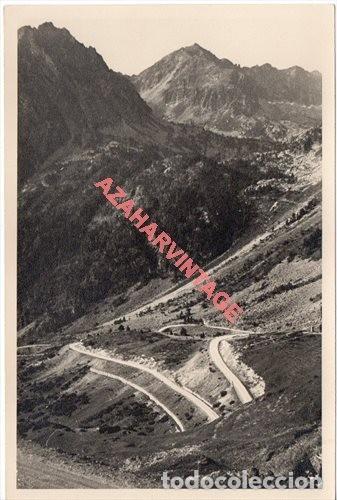 FOTOGRAFIA 18X12 - AÑOS 40 - MADERAS DEL VALLE DE ARAN - BARCELONA - SUBIDA PUERTO BONAIGUA (Fotografía Antigua - Fotomecánica)