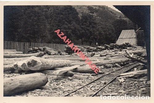 FOTOGRAFIA 18X12 - AÑOS 40 - MADERAS DEL VALLE DE ARAN - BARCELONA - DETALLE SERRERIA BOSSOT (Fotografía Antigua - Fotomecánica)