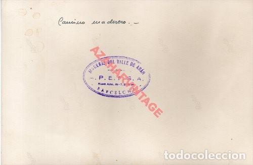 Fotografía antigua: FOTOGRAFIA 18X12 - AÑOS 40 - MADERAS DEL VALLE DE ARAN - BARCELONA - CAMINO MADERERO - Foto 2 - 223453955