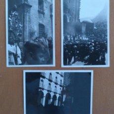 Fotografía antigua: TRES FOTOS MONTSERRAT (BARCELONA) SETIEMBRE 1940. Lote 223789700