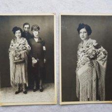 Fotografía antigua: FOTO LUQUE MADRID PAREJA FOTOS MANTON MANILA ROPAS HUCHA DOMUND CIRCA1927. Lote 224205046