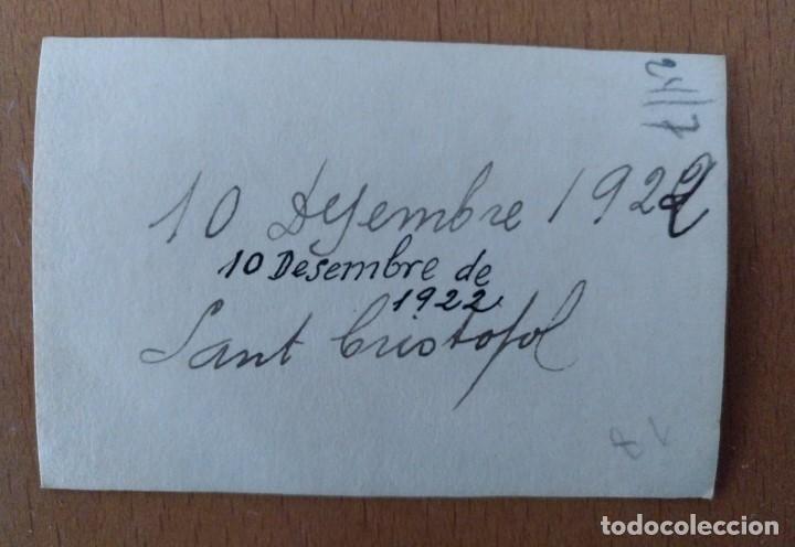 Fotografía antigua: FOTO DE GRUPO EN EL BRUNET SANT CRISTOFOL SETEMBRE 1922 - Foto 2 - 225703845