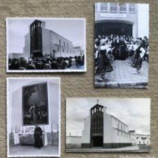 Fotografía antigua: MANZANARES - CIUDAD REAL - INAUGURACIÓN IGLESIA DE LA DIVINA PASTORA - LOTE 4 FOTOGRAFÍAS - AÑO 1964. Lote 226084870
