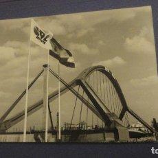 Fotografía antigua: ANTIGUA FOTOGRAFIA.CONSTRUCCION PUENTE BARQUETA.SEVILLA EXPO 92. Lote 226686181