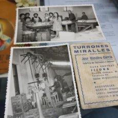 Fotografía antigua: ANTIGUAS FOTOGRAFIAS FABRICA DE TURRONES MIRALLES JIJONA LORCA AGUILAS MURCIA. Lote 227030490