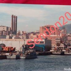 Fotografía antigua: FOTOGRAFIA PATRULLEROS P29 AL DEVA. EN BAZAN FERROL Y P33 ESPALMADOR. 1988. Lote 227724826