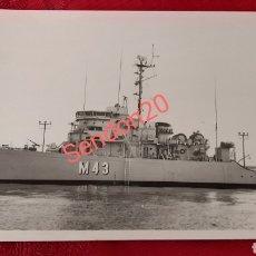 Fotografía antigua: FOTOGRAFIA DRAGAMINAS M43 GUADALQUIVIR CLASE AGGRESSIVE. ARMADS ESPAÑOLA. Lote 227771105