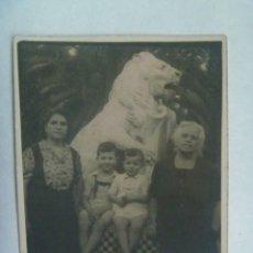 Fotografía antigua: MINUTERO DE FOTOGRAFO AMBULANTE DE SEÑORAS Y NIÑOS EN EL PARQUE DE MARIA LUISA, SEVILLA. Lote 228127035