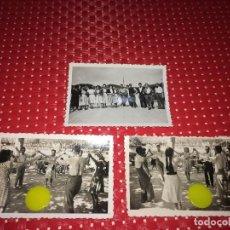Fotografia antica: BORJAS BLANCAS ( LLEIDA ) - LOTE DE 3 FOTOGRAFÍAS ORIGINALES - AÑOS 40 - LA SARDANA AL TERRALL. Lote 228205430