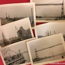 Fotografía antigua: FOTOGRAFIAS DE PORTUGALETE, PUENTE COLGANTE Y BARCOS AÑOS 40-50 DIAZ Y CASA ROS. Lote 228463920