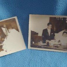 Fotografía antigua: DOS FOTOS DE BODA.FOTO EL MAÑO.ANTONIO GUTIERREZ.LOS CORRALES DE BUELNA.SANTANDER. Lote 230944450
