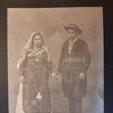 Fotografía antigua: ANTIGUA FOTOGRAFÍA JEAN LAURENT LEON MARAGATOS TRAJE REGIONAL NUMERO 1940. Lote 230945275