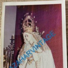 Fotografia antiga: SEMANA SANTA SEVILLA, ANTIGUA VIRGEN DE LA SALUD, SAN GONZALO, 90X125MM. Lote 231125595