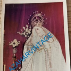 Fotografia antiga: SEMANA SANTA SEVILLA, ANTIGUA VIRGEN DE LA SALUD, SAN GONZALO, 90X125MM. Lote 231224800