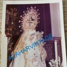 Fotografía antigua: SEMANA SANTA SEVILLA, ANTIGUA VIRGEN DE LA SALUD, SAN GONZALO, 90X125MM. Lote 231224955