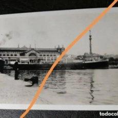 Fotografía antigua: FOTOGRAFÍA ANTIGUA DE BARCELONA. PUERTO. BUQUE. FOTO AÑO 1930.. Lote 231568400