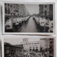 Fotografía antigua: SANTANDER.DOS FOTOS DE LA INAUGURACIÓN DEL MONUMENTO A LA ASUNCIÓN, EN LAS ATARAZANAS. 1949. Lote 231964350