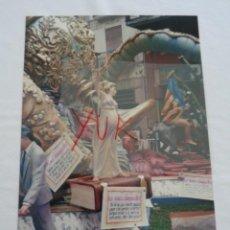 Fotografia antica: FOTO - FOTOGRAFIA DETALLE DE LA FALLA DE LA PLAZA DE LA MERCED - 1989 - FALLAS VALENCIA. Lote 232812251