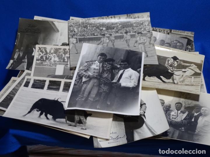 19 FOTOGRAFÍAS DE TOREROS ANTONIO POVEDA ETC.REPORTEROS CARRIÓN,VEGA,DELGADO,VILLAR,EDÉN,SOLSA... (Fotografía Antigua - Fotomecánica)
