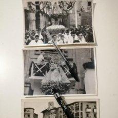 Fotografía antigua: LOTE 3 FOTOGRAFÍAS ORIGINALES CORONACIÓN DE LA VIRGEN DE LA ANTIGUA ORDUÑA 1945 RARAS 11,5X17,5 CMS. Lote 235452210