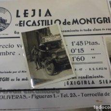 Fotografía antigua: TORROELLA DE MONTGRI. INTERESANTE LOTE LEJÍA EL CASTILLO DE MONTGRÍ. AÑOS 1950S. Lote 235808120