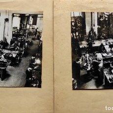 Fotografía antigua: F-4943. TALLERES BASCULAS ORTEGA. 2 FOTOS. BARCELONA. AÑOS 40.. Lote 236598250