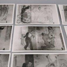 Fotografía antigua: 12 FOTOS VIÑETA DIBUJO COMICO-ERÓTICO. HISTORIETA NOCHE DE BODAS. Lote 236643555