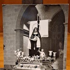 Fotografía antigua: VIRGEN DE LOS DOLORES,. Lote 236812885