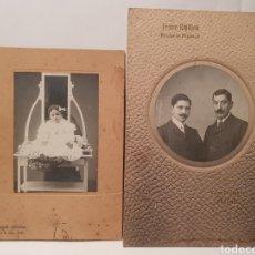 Fotografía antigua: 2 FOTOGRAFIAS DE HARO, AÑOS 30. FOTOGRAFIA ARTÍSTICA Y FRANCO ESPAÑOLA.. Lote 238515645