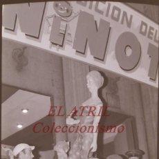 Fotografia antica: VALENCIA - FALLAS - 3 ANTIGUOS CLICHES NEGATIVOS DE 35 MM EN CELULOIDE. Lote 239451000