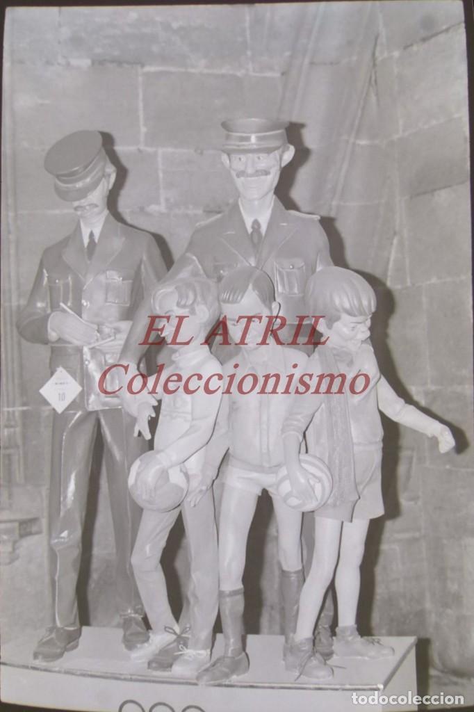 VALENCIA - FALLAS - ANTIGUO CLICHE NEGATIVO DE 35 MM EN CELULOIDE (Fotografía Antigua - Fotomecánica)