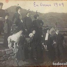 Fotografía antigua: MI ABUELA LOLA ELOLA EN ORENSE, 1909,JUNTO AL DENTISTA TURCO NIGOGOSS... Lote 242307490