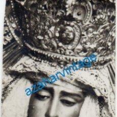 Fotografia antica: SEMANA SANTA SEVILLA, ANTIGUA FOTOGRAFIA VIRGEN DE LAS ANGUSTIAS,LOS GITANOS,60X88MM. Lote 243792170